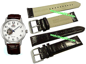 ORIENT 22mm genuine leather for CDB08005W & etc Color: Dark Brown Code: QUDDYE-BR
