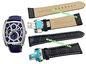 ORIENT 24mm Genuine Leather for CEZAD003D Color : Blue