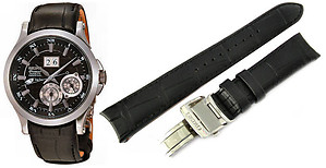 Seiko 20mm Genuine Leather for SNP001, SNP003, SNP004, SNP005, SNP015, SNQ005, SNA583, SNA585 & SNA587 Color: Black Code: 4KK6JZ