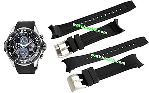 Citizen 23mm Genuine Rubber Strap for BJ2110 Code: 59-S51866