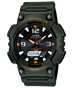 CASIO TOUGH SOLAR Analog-Digital Combination AQ-S810W-3AV