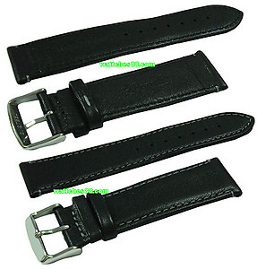 22mm Genuine Leather Strap - Black Color Code: B8258-22