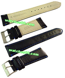 24mm Genuine Leather Strap Black Color Code: CH800BE24