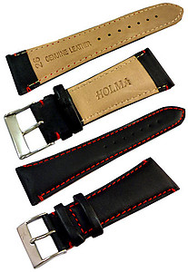 26mm Genuine Leather Strap Black Color Code: CH800BR26