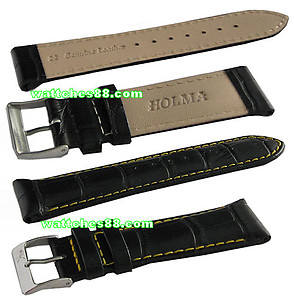22mm Genuine Leather Strap – Black Color Code: CS1127BY