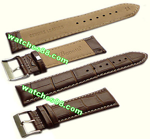 24mm Genuine Leather Strap Brown Color Code: HGX8416NW24
