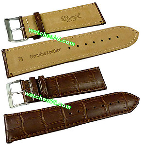 24mm Genuine Leather Strap - Color: Brown Code: HGX8451-24mm