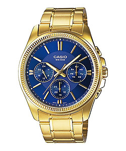 CASIO Multi-Hand Gents Collection MTP-E304GB-2AV