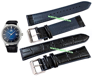 ORIENT 21mm genuine leather for AC08004D Color: Black Code: QUDFDD