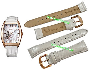ORIENT 19mm Genuine Leather for DBAE002W Color: White Code: QUDERG