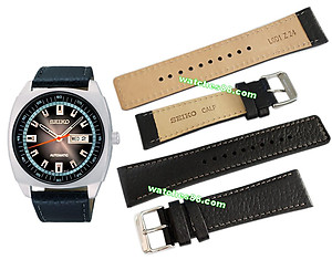 SEIKO 24mm Genuine Calf Leather Strap for SNKN01K1 Code: L0D1011J0