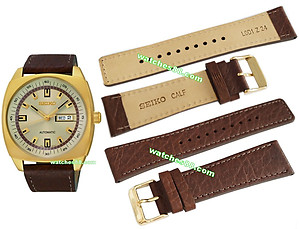 SEIKO 24mm Genuine Calf Leather Strap for SNKN02K1 Code: L0D1012K0