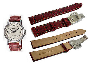 Seiko 20mm Genuine Leather for SNM005 & etc. Code: 4K09JB
