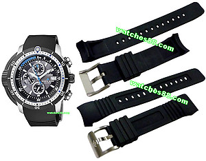 CITIZEN 23mm Genuine Rubber Strap for BJ2120-07E Code: 59-S51867