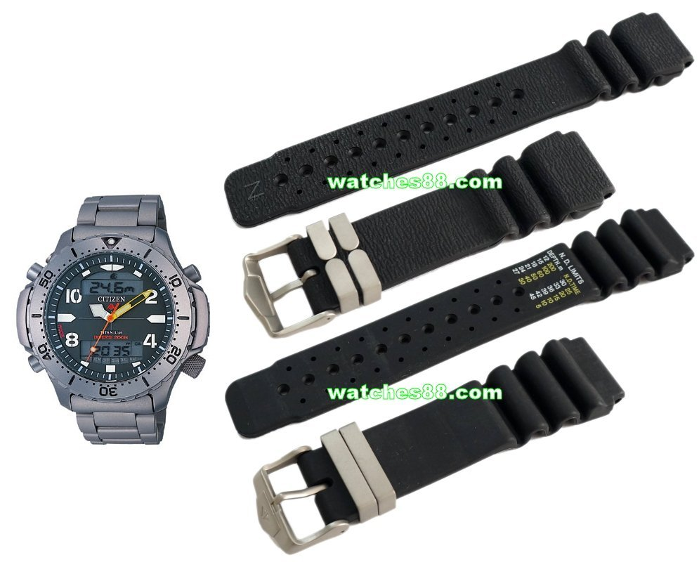 Citizen 21mm Promaster Diver's Rubber Strap for JP3040, JP3050 Code: 59-G0151