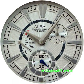 ALBA Sign-A Collection Multi-hand Calendar AQ7043