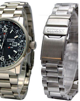 CITIZEN 22mm Stainless Steel Bracelet CITIZEN PROMASTER SKY Eco-Drive BJ7010 &  BJ7019 Code: 59-T00276