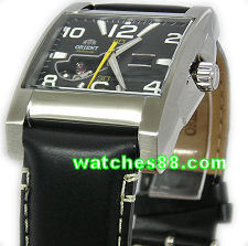ORIENT 24mm genuine leather for CDBAA003A, CDBAA004H & etc Color: Black
