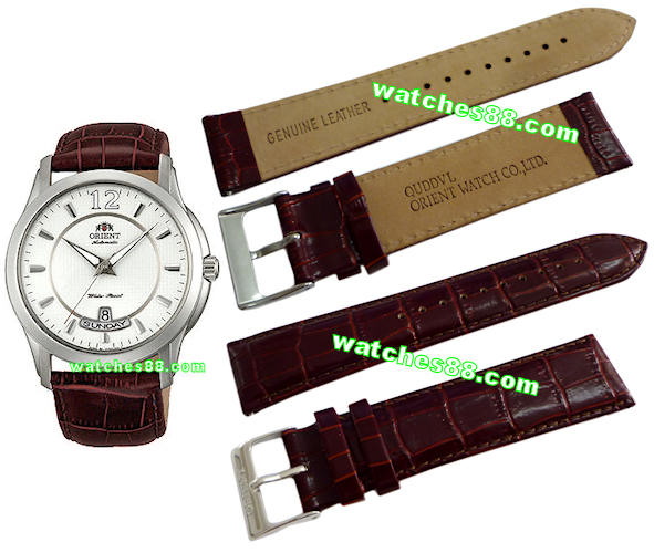 ORIENT 22mm genuine leather for CEV0M003W Color: Brown Code: QUDDVL