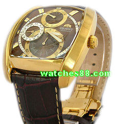 ORIENT 24mm Genuine Leather for CEZAD006T Color : Brown Gode: QUDCYS-GB