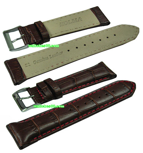 22mm Genuine Leather Strap - Brown Color Code: CS1135-22
