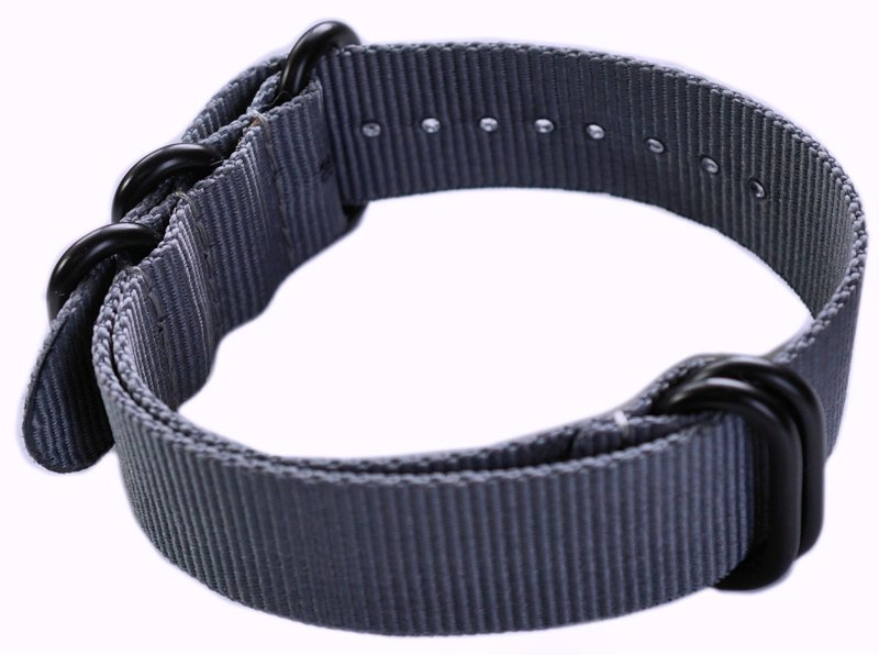 22mm ADMIRAL Nato Nylon Strap  Code: N22BGY Color: Grey