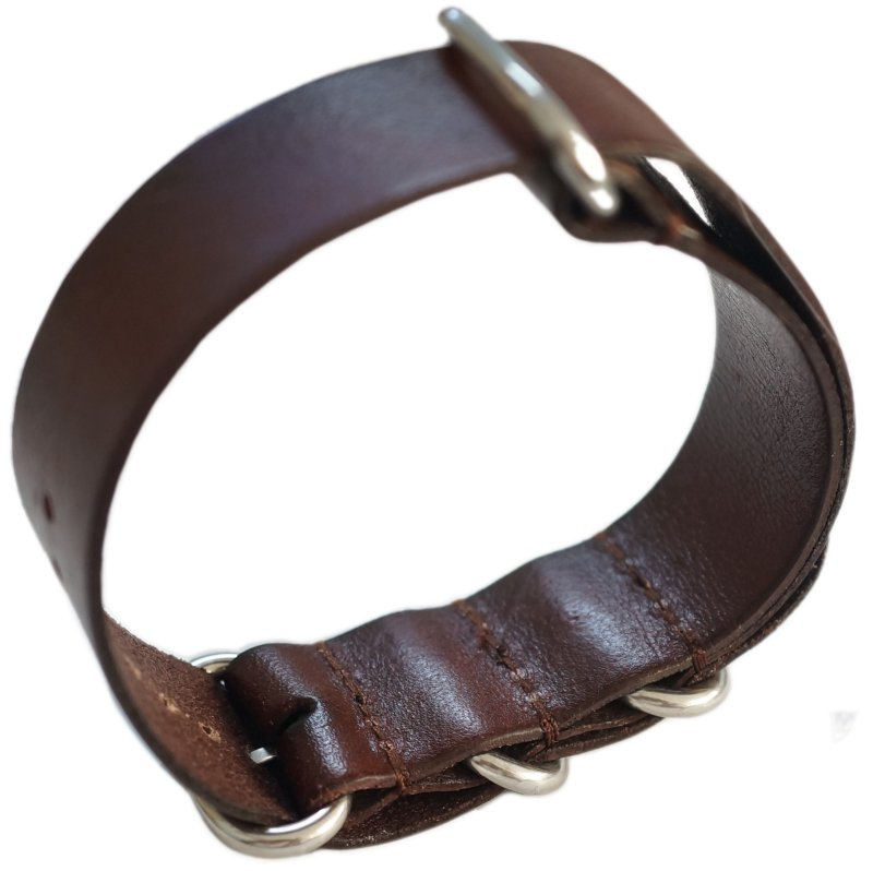 24mm ADMIRAL Nato Genuine Leather Strap Code: N24LBR Color: Brown
