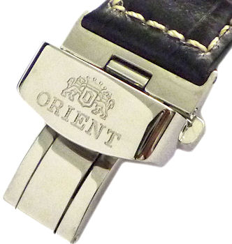 ORIENT 20mm genuine leather Color: Black Code: QUDCMD