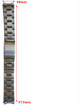 Orient solid stainless steel bracelet