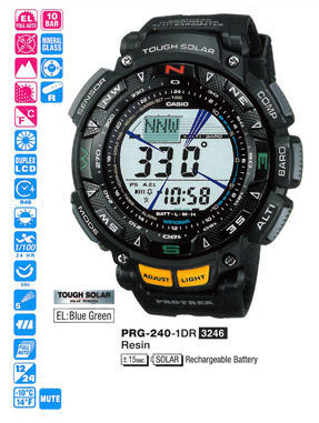 CASIO Protrek Tough Solar Triple Sensor PRG-240-1DR