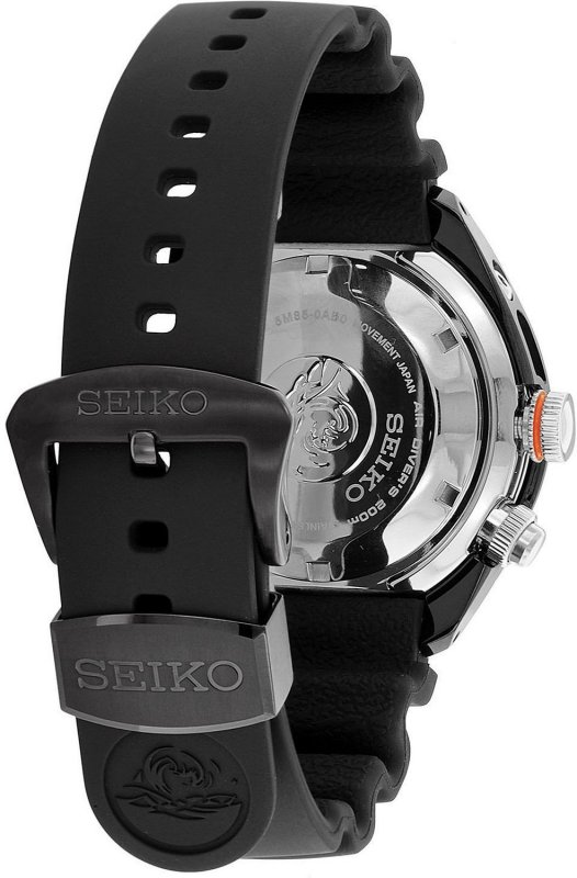 SEIKO 24mm Genuine Diver's Rubber Strap for SUN023P1 Code: R01Y011M0