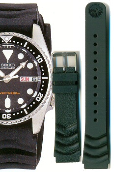 Seiko 20mm Diver rubber strap V- type for SKX013, SKX023,  SKX025 etc. Code: 4FV9JZ