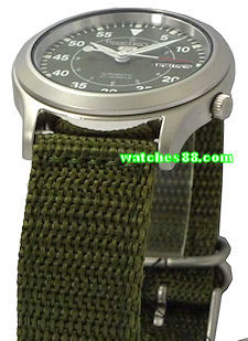 Seiko 20mm Genuine Nylon Strap for SNKH63, SNKH65, SNKH67, SNKH69 & etc. Color: Green Code: 301D3JL