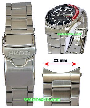 SEIKO 22mm Solid Stainless Steel Bracelet for SNZF15, SNZF17 Code: 300F1JM-L