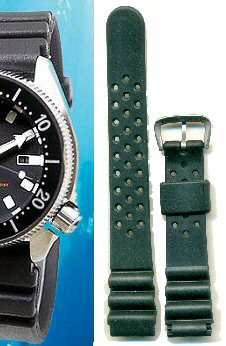 Seiko 18mm Ladies  Diver rubber strap -Classic type