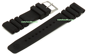 ORIENT 24mm genuine rubber strap for 200m M-force & etc Code: VDEVKSB Color: Black