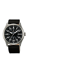 ORIENT 22mm genuine leather for FER2A003B Code: QUDENV-S Color: Black / Steel Buckle