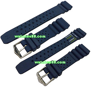 Citizen Promaster Diver's Rubber Strap 20mm for NY0040, NY0046, NY0054, NY0055, NY2300 & etc. Code : 59-G0069 Color: Blue