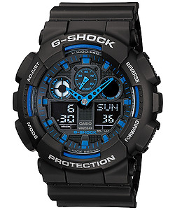 CASIO G-Shock Three Dial Face World Time GA-100-1A2