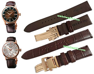 SEIKO PRESAGE 20mm Genuine Leather for SSA346, SRPB46 Code:L0HE013P0 Color: Brown