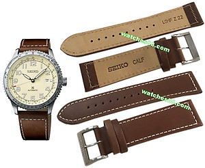 SEIKO 22mm Genuine Calf Leather Strap for SRPB59 Code:L0HF012J1