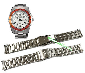 Orient original 22mm solid stainless steel bracelet for EM75001B & etc Code: QPDDUN