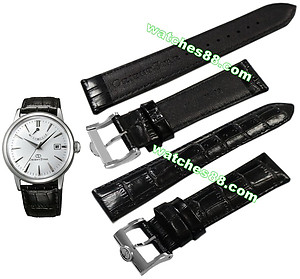 ORIENT STAR 20mm Genuine Strap for SEL05 , SAF02 Code: QUDEHMSB Color: Black