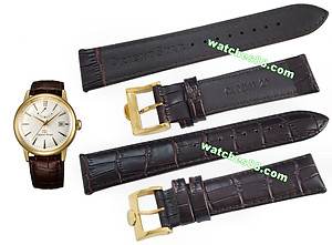 ORIENT STAR 20mm Genuine Strap for SEL05, SAF02 Code: QUDEHMGT Color: Brown