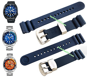 SEIKO 22mm Genuine Diver's Rubber Strap for SRP773, SRP775, SRP779 & SRPC95 Code: R02F012J0 Color: Blue