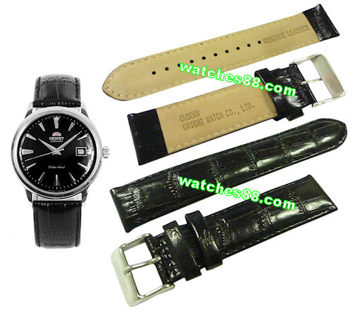 ORIENT 21mm genuine leather for ER24004B & etc Color: Black Code: QUDEKN-B
