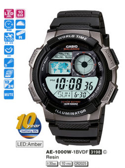 Casio Sporty Digital AE-1000W-1BV