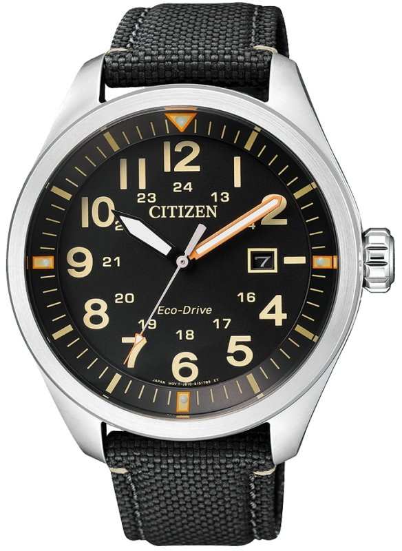 CITIZEN Eco-Drive Gents Military Dress Collection AW5000-24E