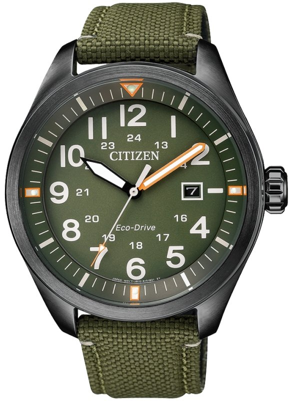 CITIZEN Eco-Drive Gents Military Dress Collection AW5005-21Y