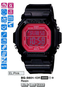 Casio Baby-G World Time Colors series BG-5601-1DR